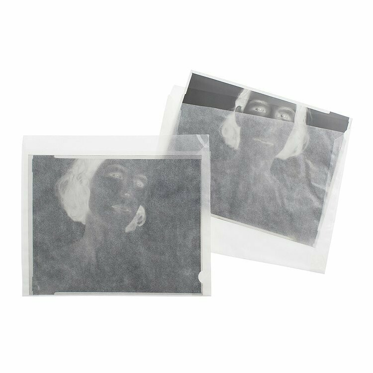 "Negative pockets/Pergamine sleeves for 4x5"" flat films 100 pack"