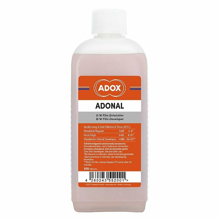 Adox ADONAL 500 ml Concentrate (Rodinal) - Disposable film developer black and white - Identical with Agfa Rodinal