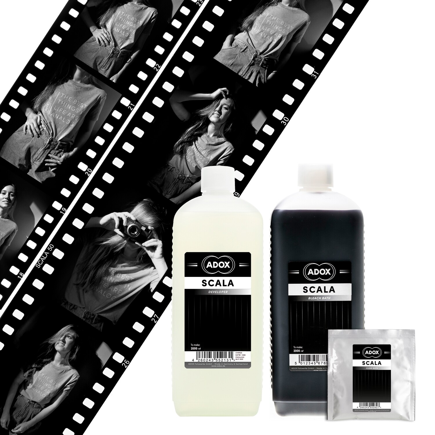 ADOX Scala Kit for b/w slide development for 2000 ml -  (available from approx. 15.02.2021)