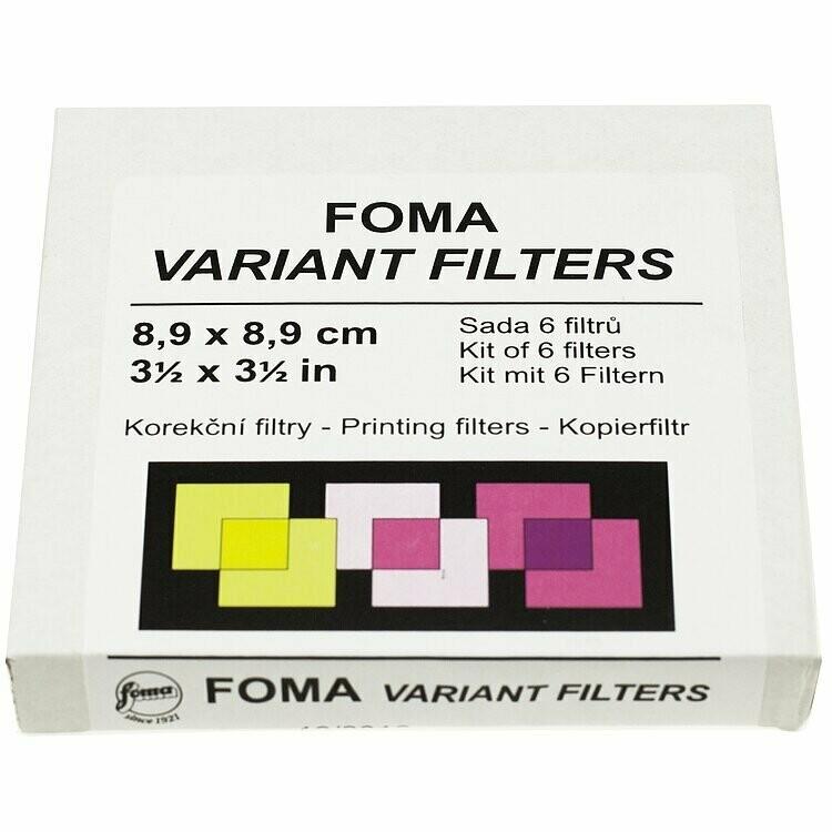 FOMA Multi contrast filter set 9X9cm gradation levels 0-5