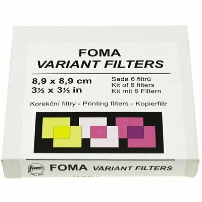 FOMA Multi contrast filter set 9X9cm gradation levels 0-5