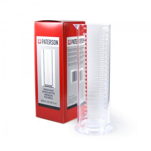 Mensur 600 ml - Mensur für die Fotoentwicklung zur exakten Flüssigkeitsabmessung maximal 600 ml/ccm