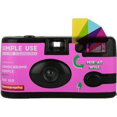 Lomography Simple-Use Filmkamera +Color Negativ 100-400  Purple 135-36 Film date 01/2022