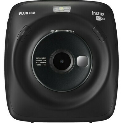 FUJIFILM INSTAX SQUARE SQ20 Hybrid Instant Camera (Black)