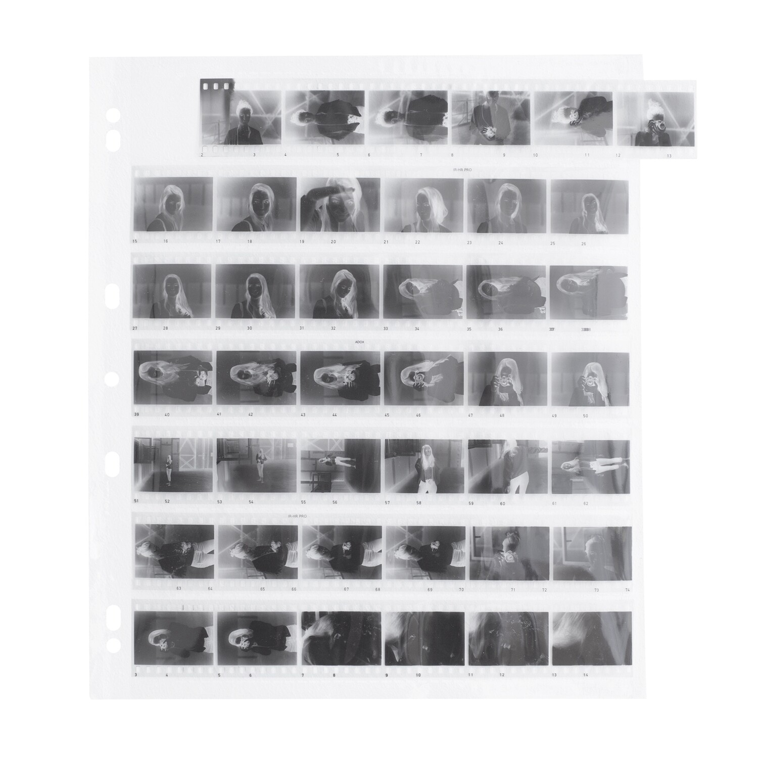 ADOX ADOFILE: Polypropylene sleeves 35mm - (29,3cmx25,6cm) Oversized negative sleeves for 35mm film - 100 sheets