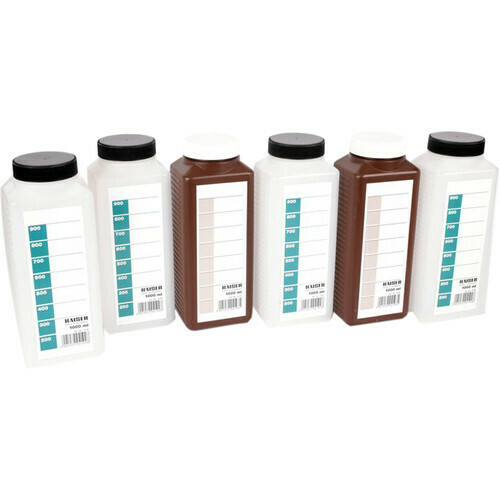 Kaiser Laboratory Bottle Kit 6 pieces 1 litre (4 clear and 2 brown bottles)