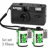 Ilford Sprite 35-II Film Camera black with 2 film