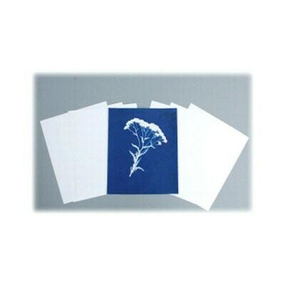 "Blue Sunprints - Cyanotype Store Cyanotype Paper (8 x 10"", White, 12 Sheets)"