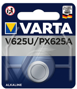 VARTA PHOTO  V 625 U / PX625A / LR9 Special battery for photo and flash Voltage: 1.5 V Capacity: 200 mAh - to be used until 08/2023