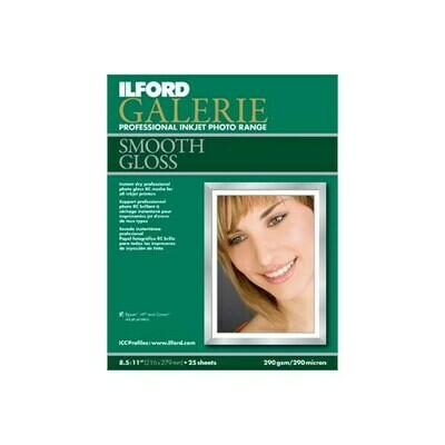 Ilford Galerie A3 290gsm Professional Inkjet Paper - Smooth Gloss - 25 sheets