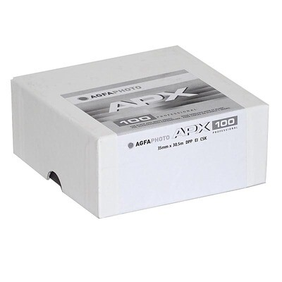 Agfa APX 100 Professional Black and White Negative Film 135 x 30.5 m  Expired 03/2025