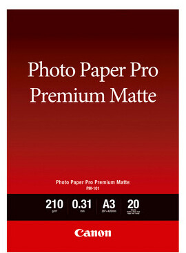 Canon PM-101 Photo Paper Pro Premium Matte A3, 20 Sheets