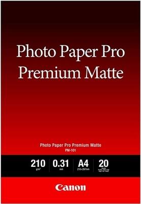 Canon PM-101 Photo Paper Pro Premium Matte A4, 20 Sheets