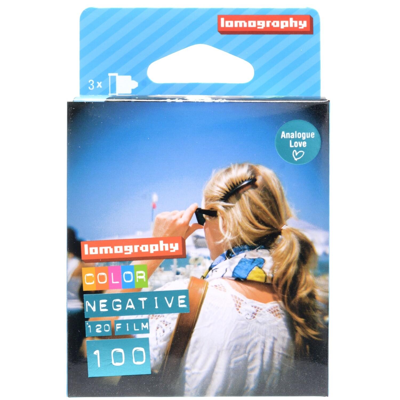 Lomography 100 Color Negative Film format 120 3-Pack expired 01/2022