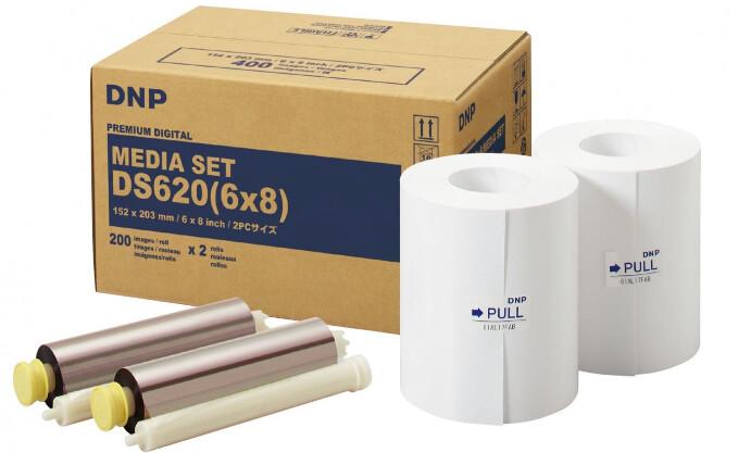 "DNP DS6206x8 6 x 8"" Roll Media for DS620A Printer (2-Pack) - Backorder"