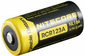 Nitecore NL166 RCR123A Li-ion Battery 650mAh -  rechargeable li-ion battery