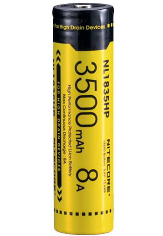 Nitecore NL1835HP 3500mAh Battery -  rechargeable li-ion battery