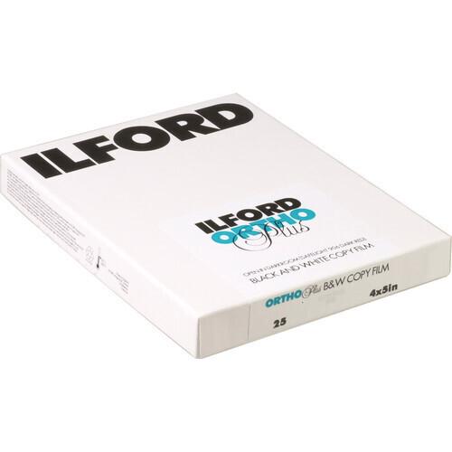 "Ilford Ortho Plus Black and White Negative Film (8x10"", 25 Sheets)"