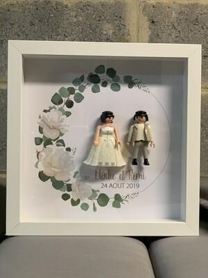 Cadre Mariage - Couple - St Valentin  23x23 cm