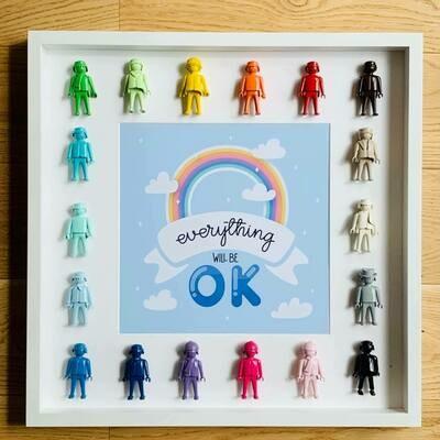 Cadre Rainbow 50x50cm