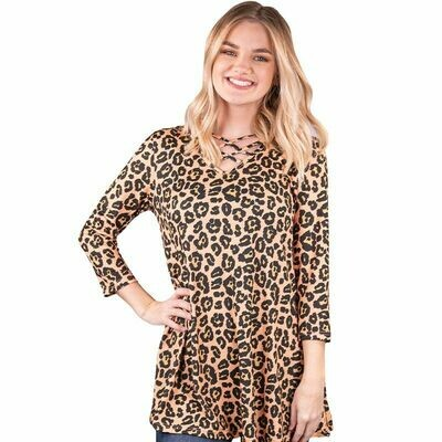 Simply Southern Cross Tunic Leopard