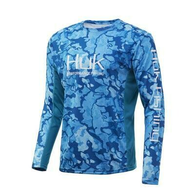 HUK Icon Camo X Long Sleeve Current North Drop