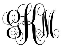 Custom Script Monogram
