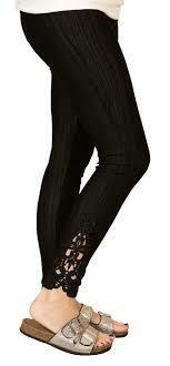 Simply Southern Lace Pant Black