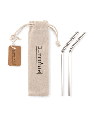 BRUMATE Stainless Steel Reusable Wine Straws