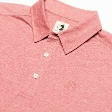 DUCK HEAD Hayes Performance Logo Polo Rio Red Heather