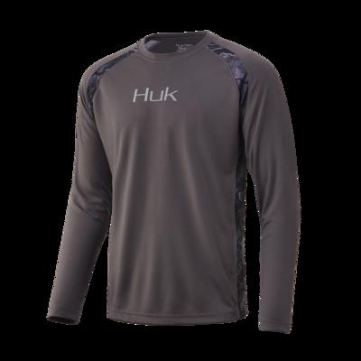 HUK Strike Solid Long Sleeve Iron