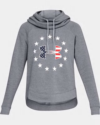 Under Armour Women's UA Freedom Tech Terry Hoodie Steel/White