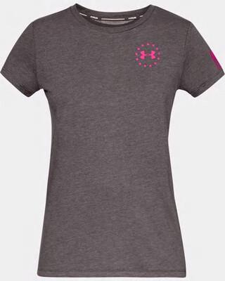 Under Armour Women's UA Freedom Flag T-Shirt Charcoal Medium Heather