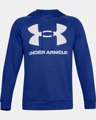 Under Armour Men's UA Rival Fleece Big Logo Hoodie Jupiter Blue/Onyx White