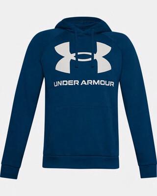 Under Armour Men's UA Rival Fleece Big Logo Graphite Blue/Onyx White