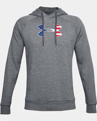 Under Armour Men's UA Freedom Rival BFL Hoodie Pitch Gray Light Heather
