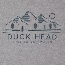 Duck Head Mountain Patch SS T-shirt Heather Gray