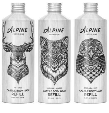 Alpine Provisions Castile Body Wash Refill 16.9oz