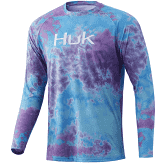 HUK Tie Dye Pursuit Blue Radiance