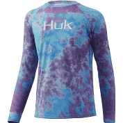 HUK Youth Tie Dye Pursuit Blue Radiance
