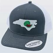 Low Country Hat North Carolina Watermelon Charcoal/white