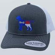 Low Country Hat North Carolina Flag Lab Charcoal/white Hat