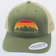 Low Country Hat North Carolina Mountain Skyline Moss/khaki