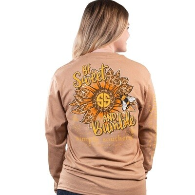 Simply Southern LS Bumble Latte