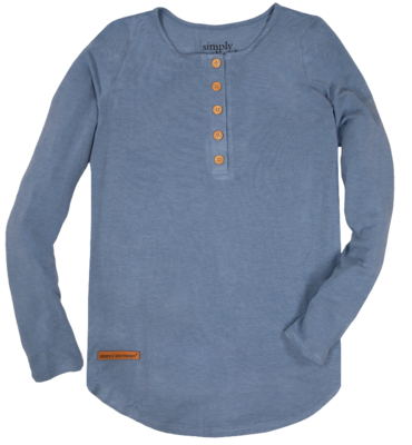 Simply Southern Henley Blue