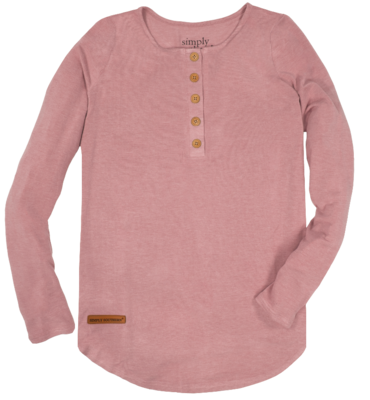 Simply Southern Henley Rose
