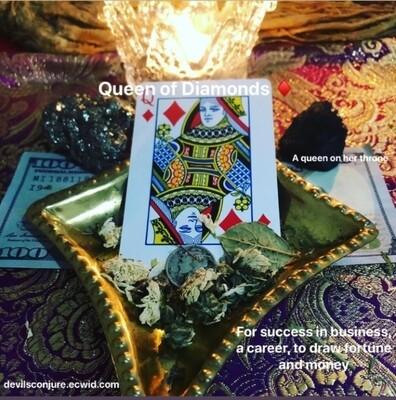 Queen of Diamonds Mojo Hand