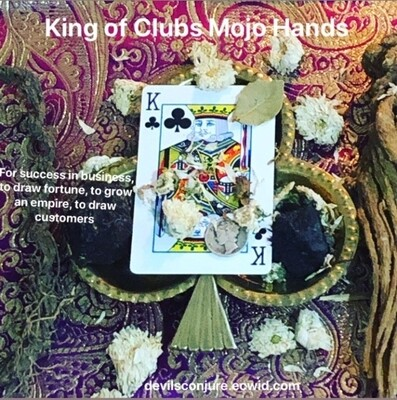 King of Clubs Mojo Hand