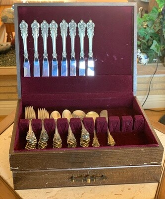 50pc Wallace Grand Baroque Sterling Silver  Flatware Set