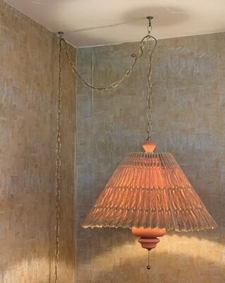MCM Vintage Terracotta Hanging Swag   Sunset Cosco
